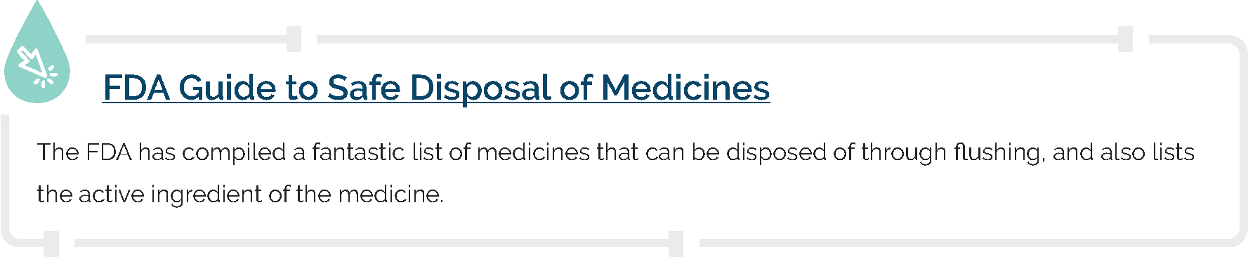 FDA Guide to Safe Disposal of Medicines