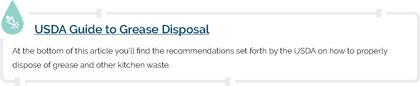 USDA Guide to Grease Disposal