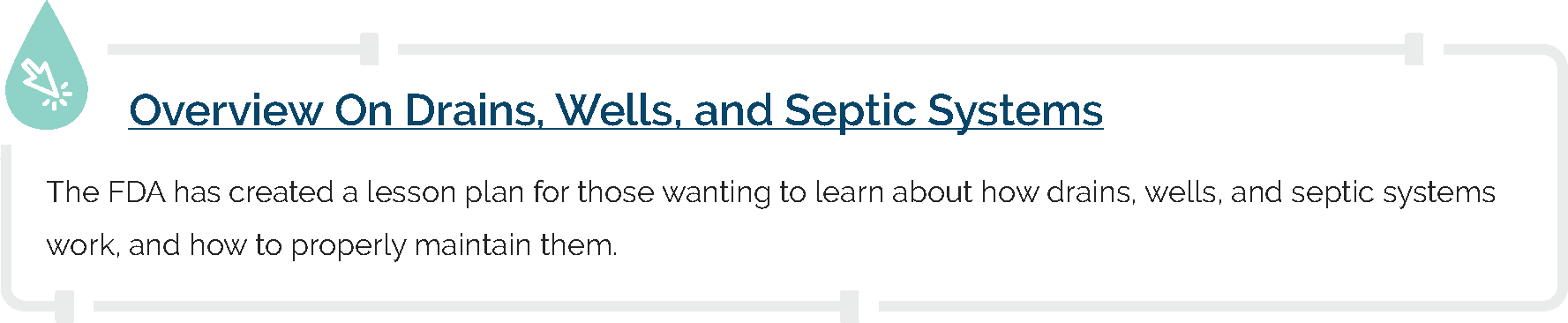 Overview On Drains, Wells, and Septic Systems