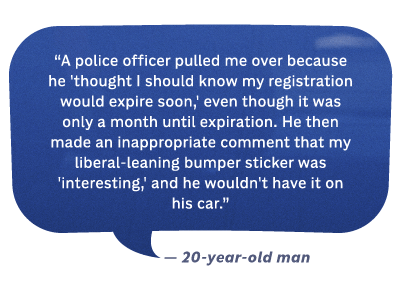 Police officer recounting