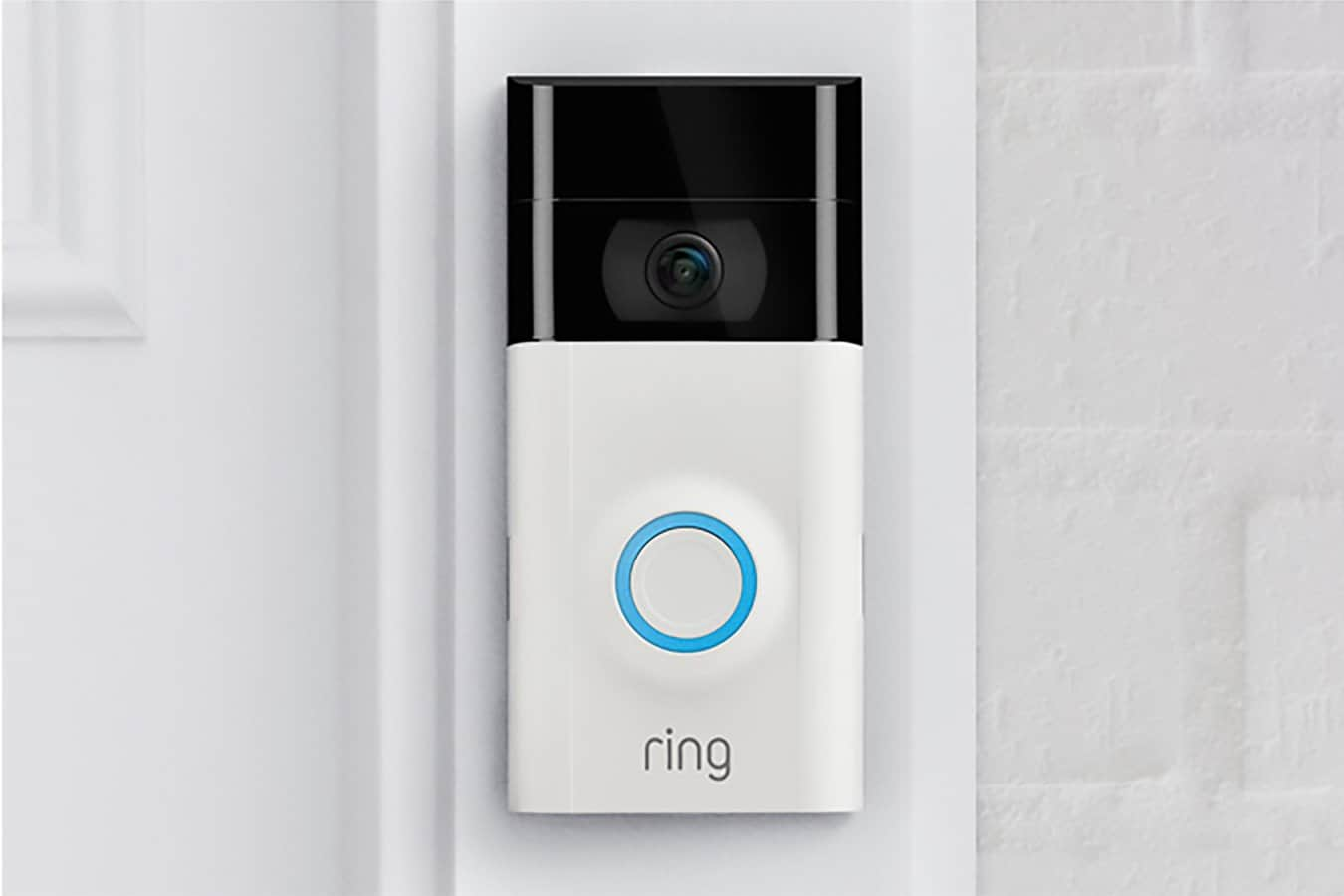 Ring Doorbell Camera White