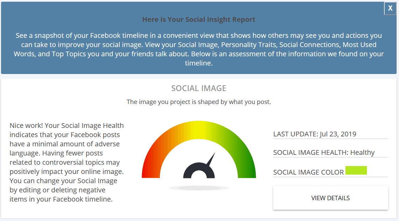 Identity Guard Social Insight Report