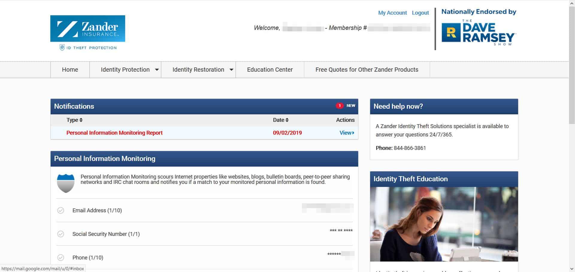Zander Insurance - Web Alerts