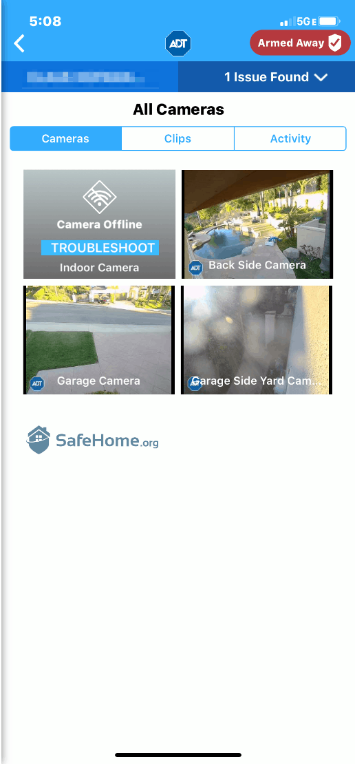 ADT App - All Cameras View