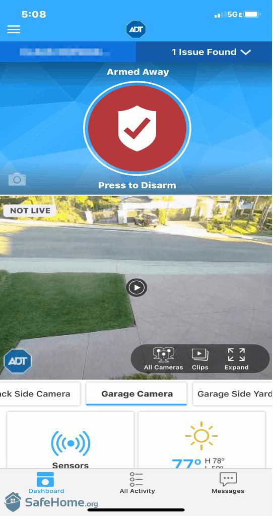 ADT App Camera View