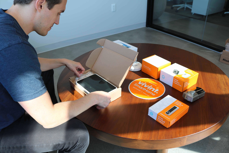 Unboxing the Vivint Smart Hub