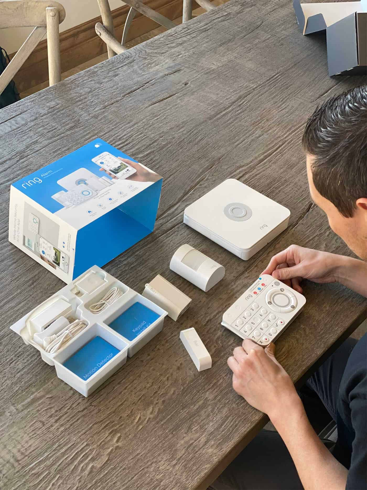 Unboxing Ring Alarm System
