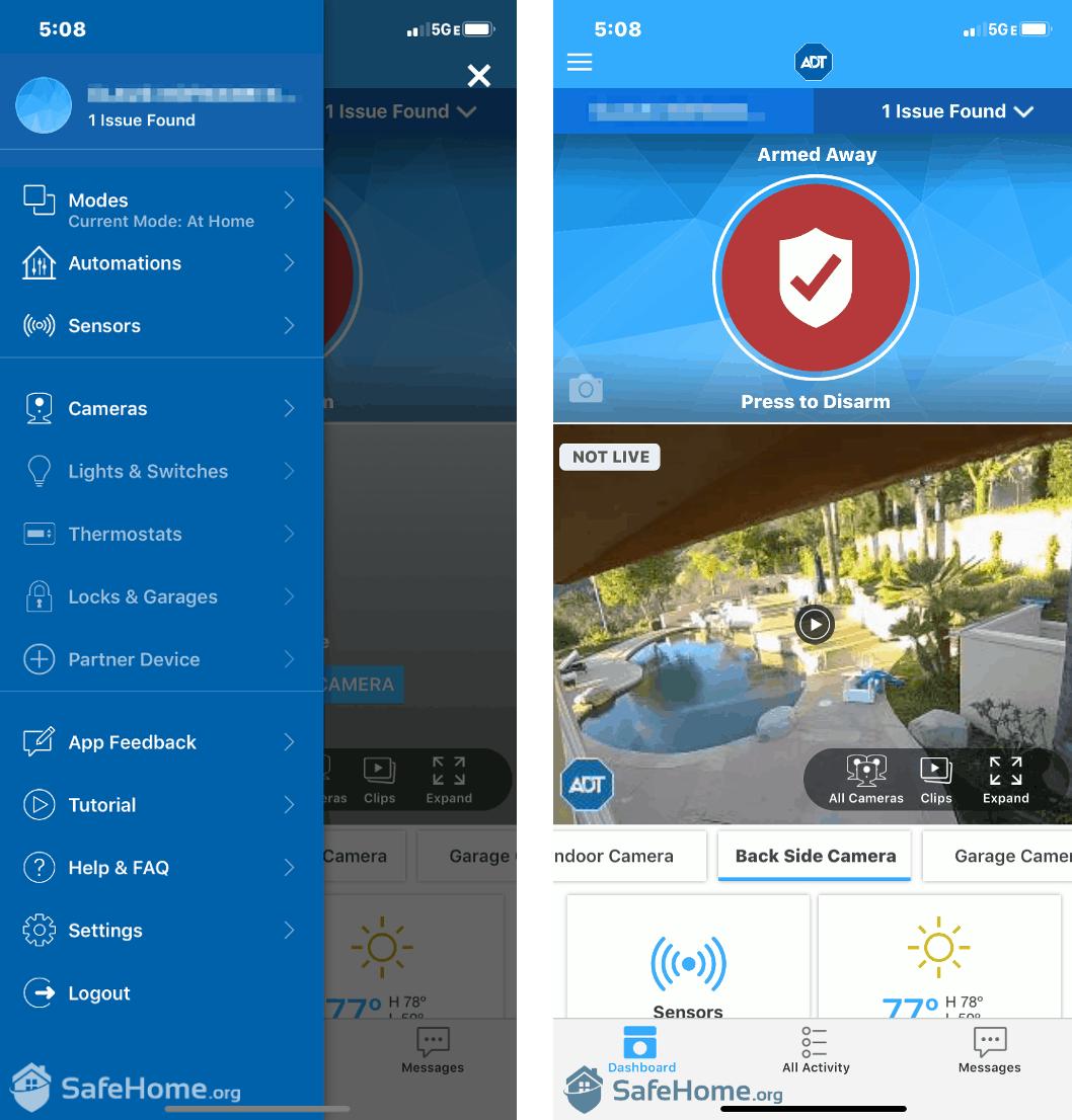 ADT App Controls