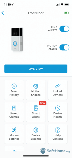Ring Doorbell App Options