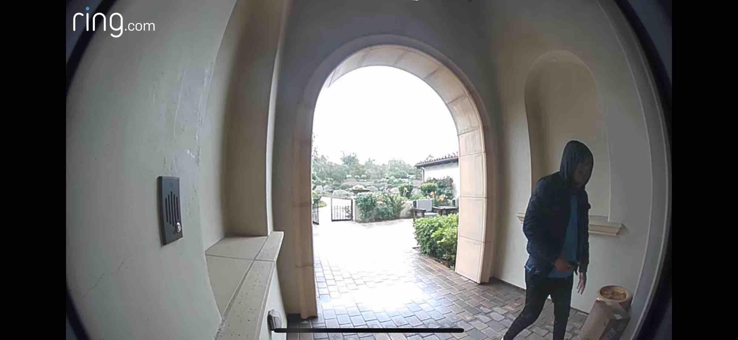 Ring Doorbell - Visitor at Front Door