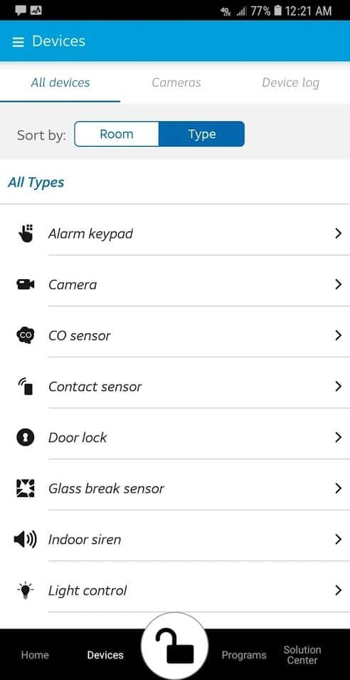 AT&T Digital Life App Devices