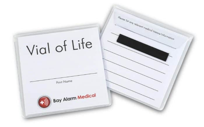 Bay Alarm Medical Vial of Life
