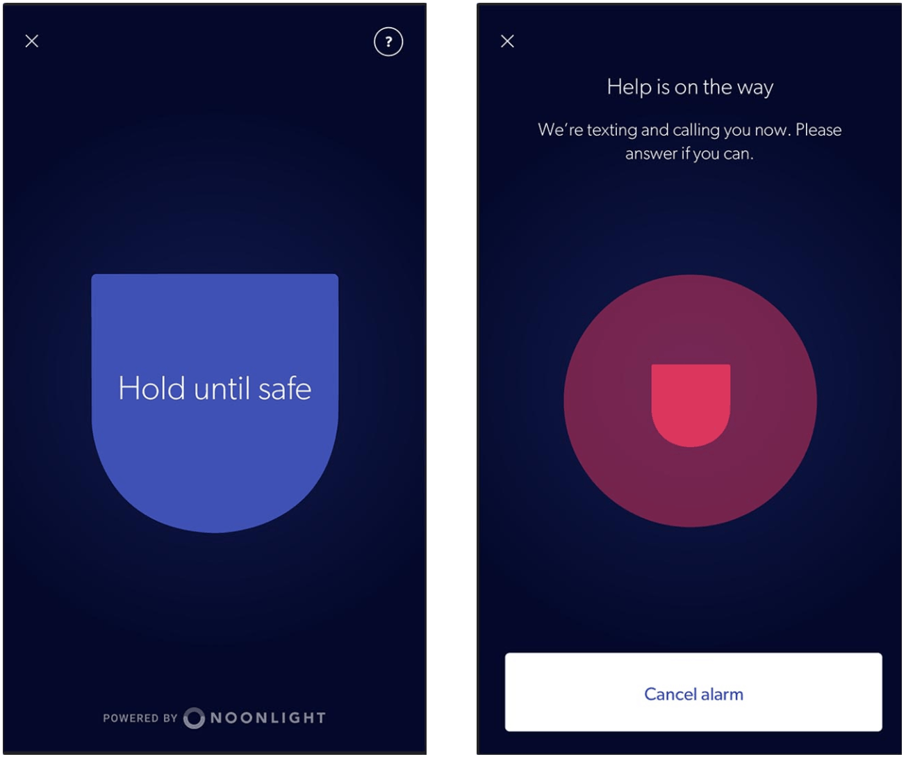 Canary App - Safety Button