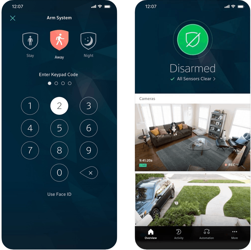 Comcast Xfinity Home Security Mobile App
