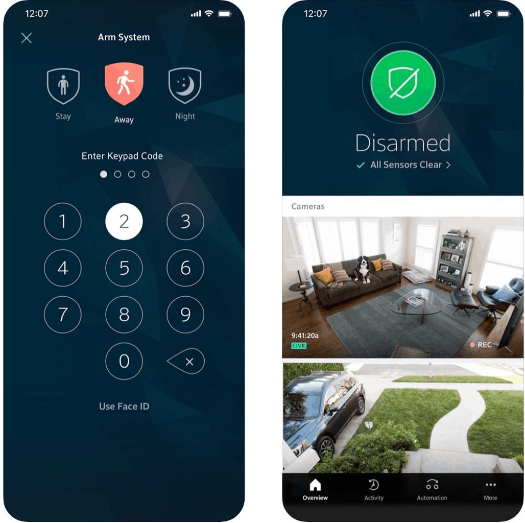 Comcast Xfinity Home Security Mobile App