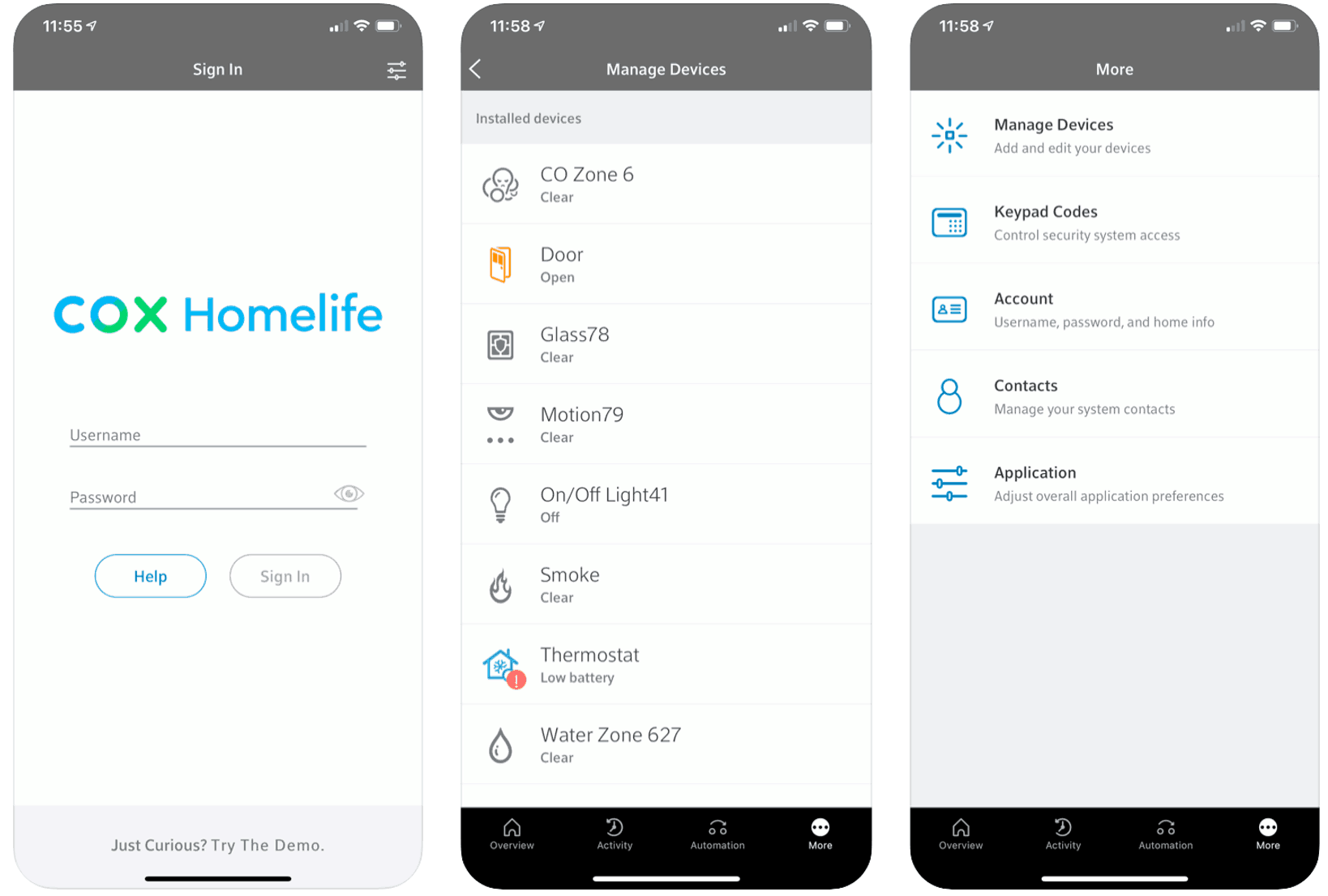 Cox Homelife Mobile App