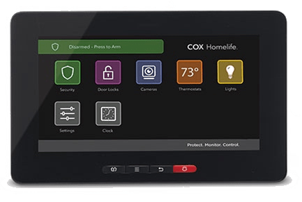 Cox Homelife Smart Security Touchscreen Control Panel