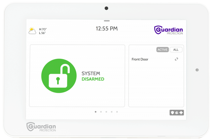 Guardian Protection IQ2 Touchscreen Panel