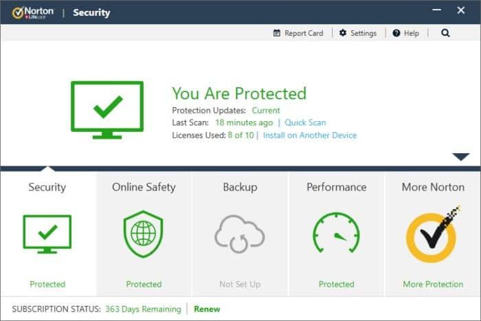 Norton LifeLock Security Subscription