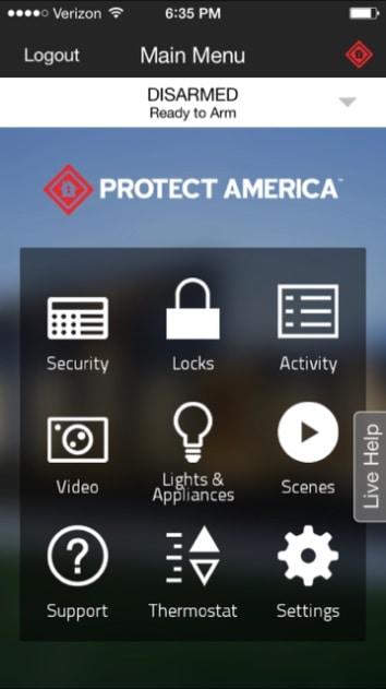 Protect America Mobile App