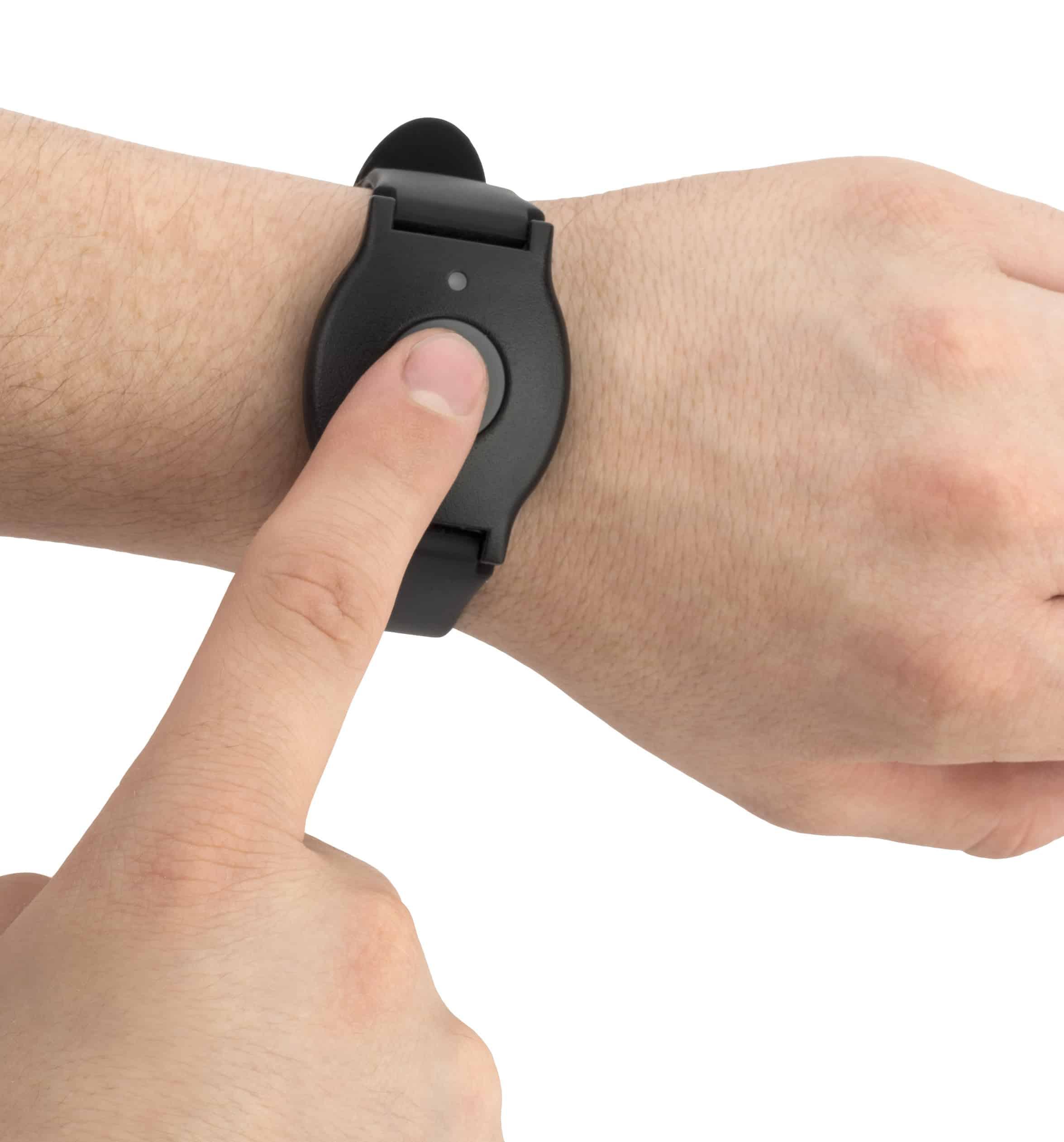 Wearing the LifeFone wristband
