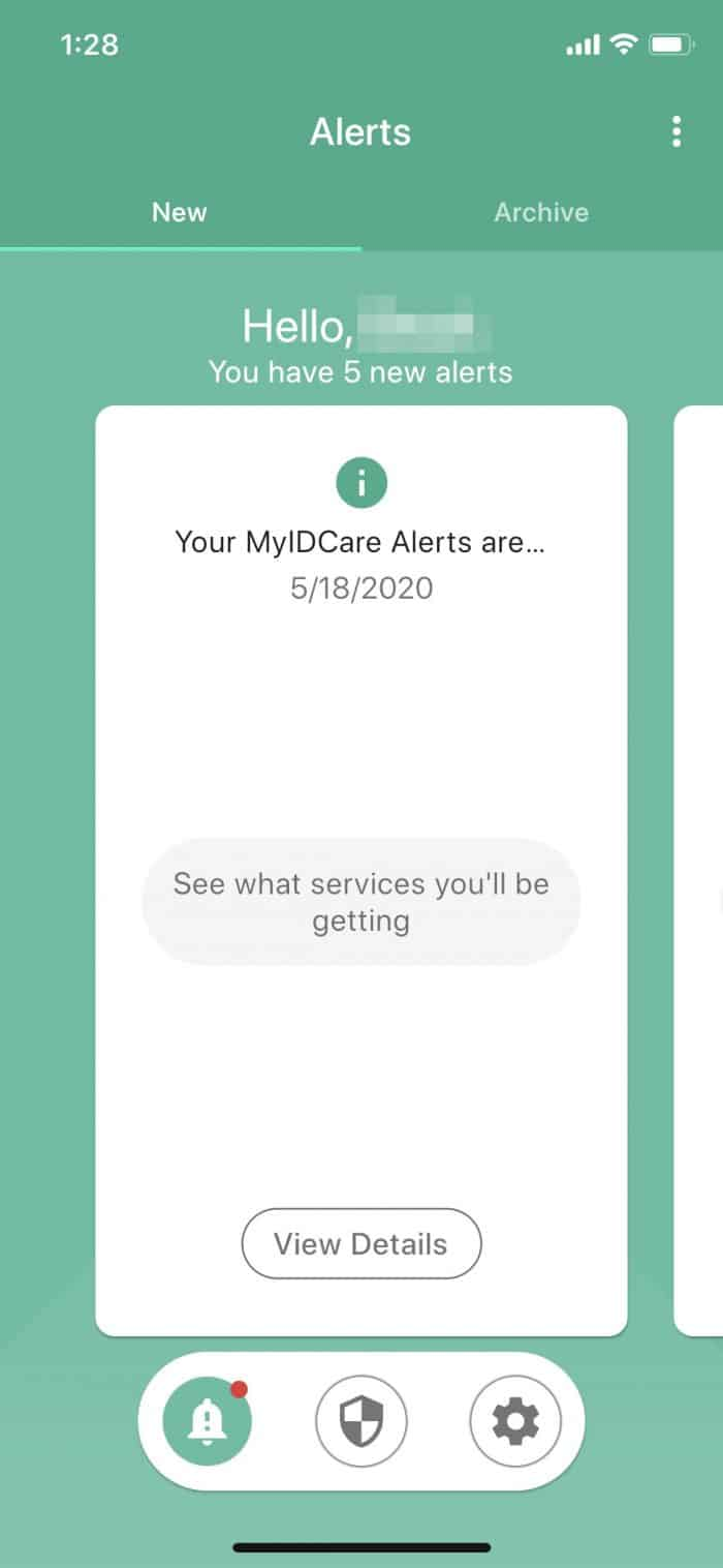 MyIDCare - Mobile App Alerts