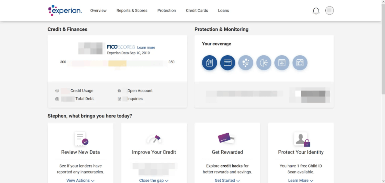 Experian IdentityWorks - Account Overview