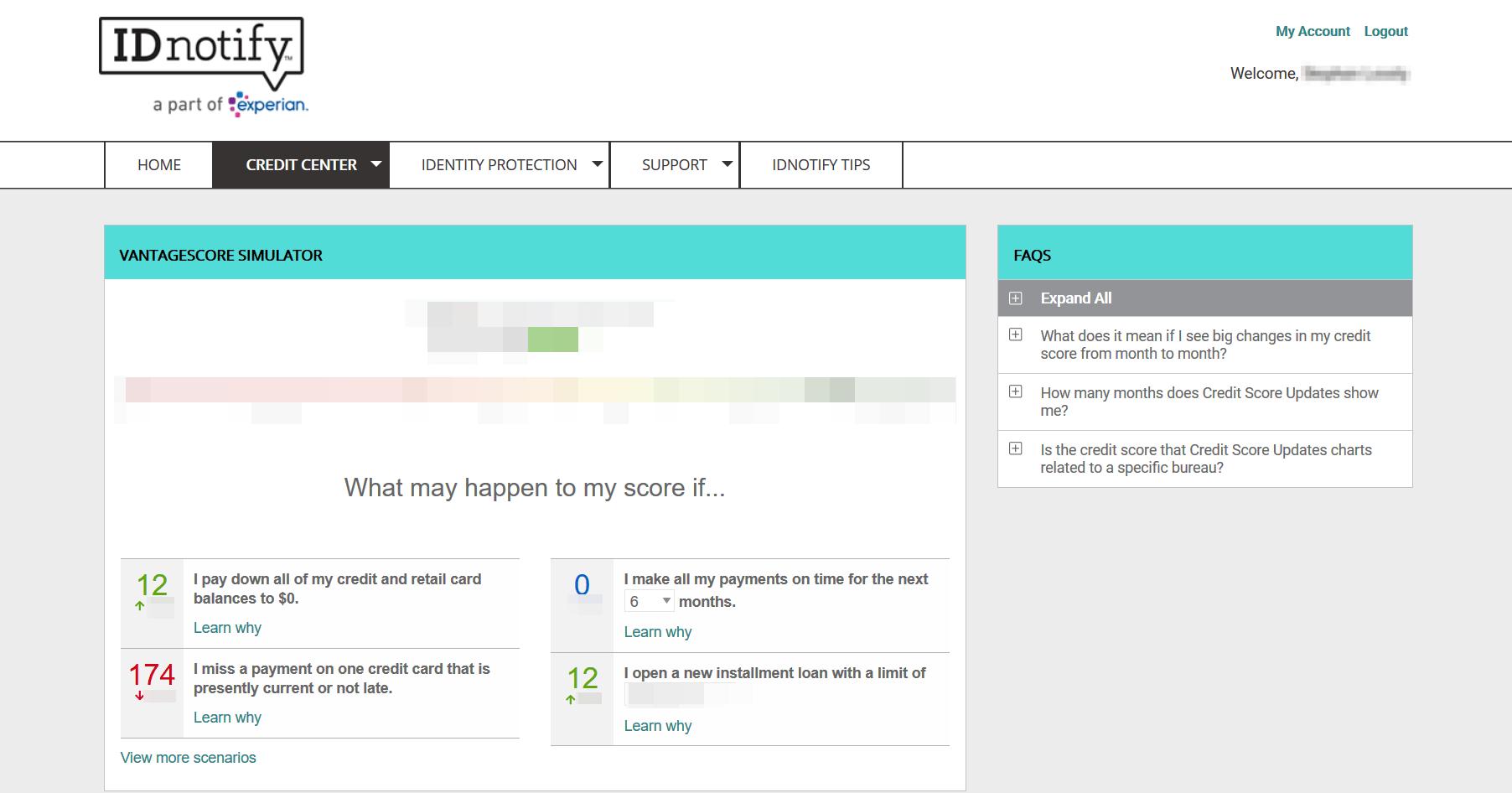 IDnotify - Credit Changes