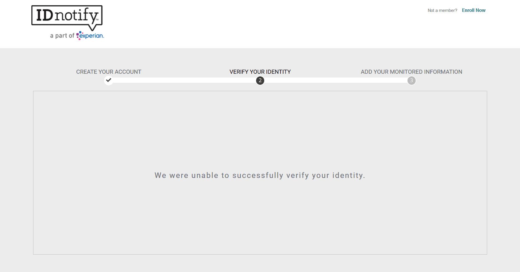 IDnotify - Verifying Identity Screen
