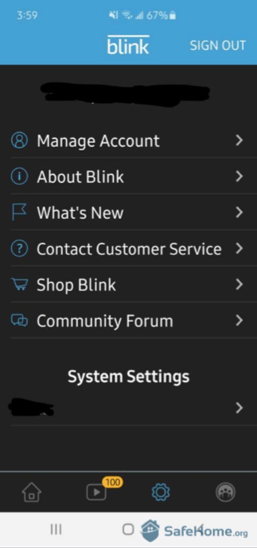 Blink App Dashboard