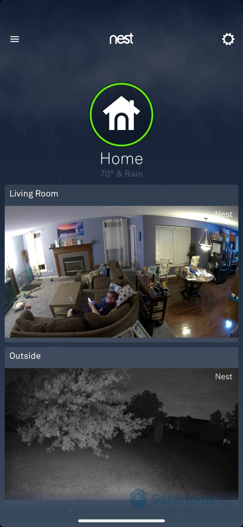 Nest App Video Monitoring