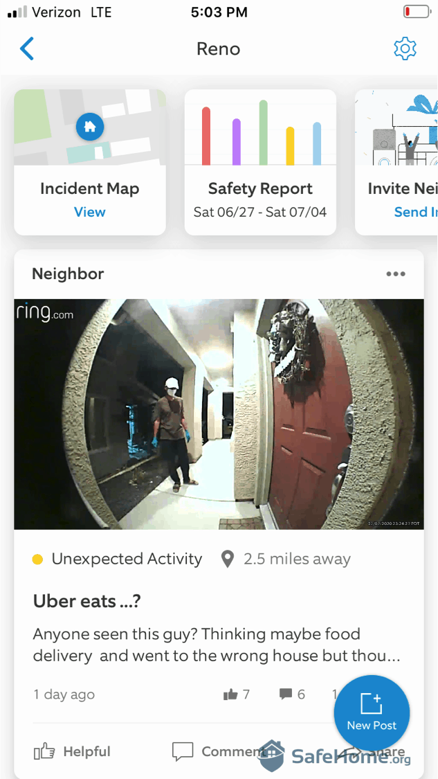 Ring Alarm App Activity