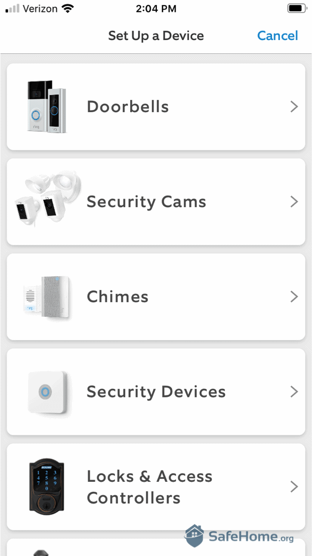 Ring Alarm App Device Setup