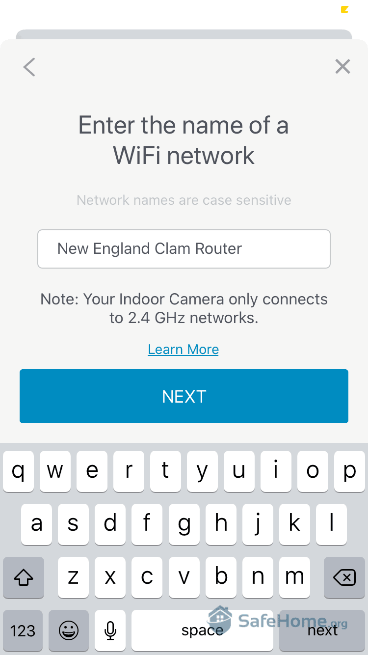SimpliSafe App - Connecting to Wifi
