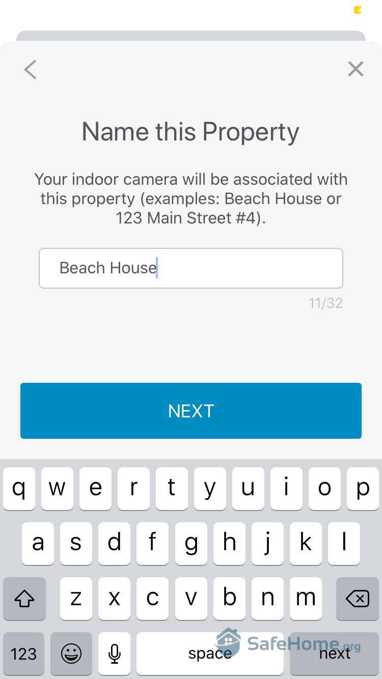 SimpliSafe App - Camera Setup