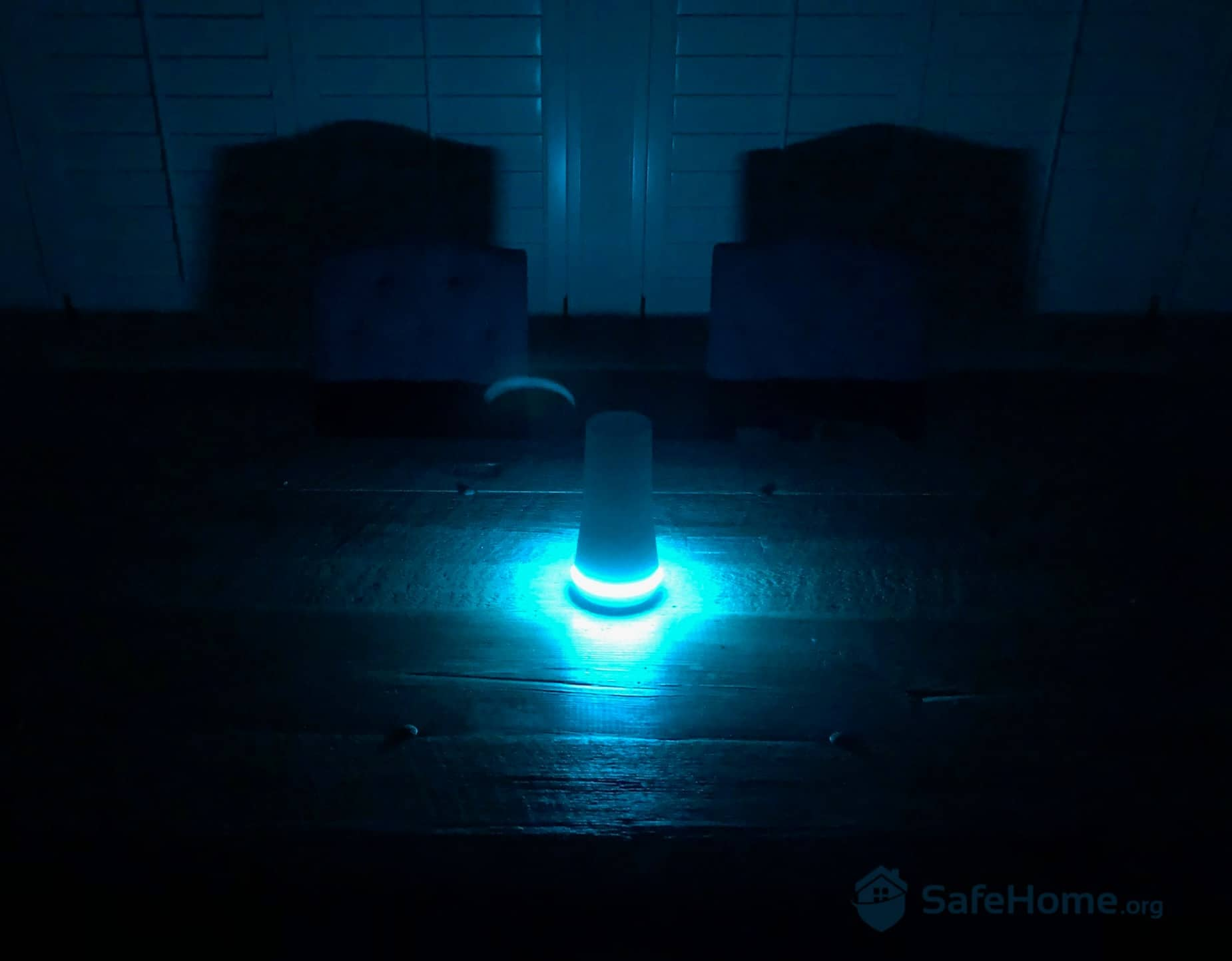 SimpliSafe Base Station at Night