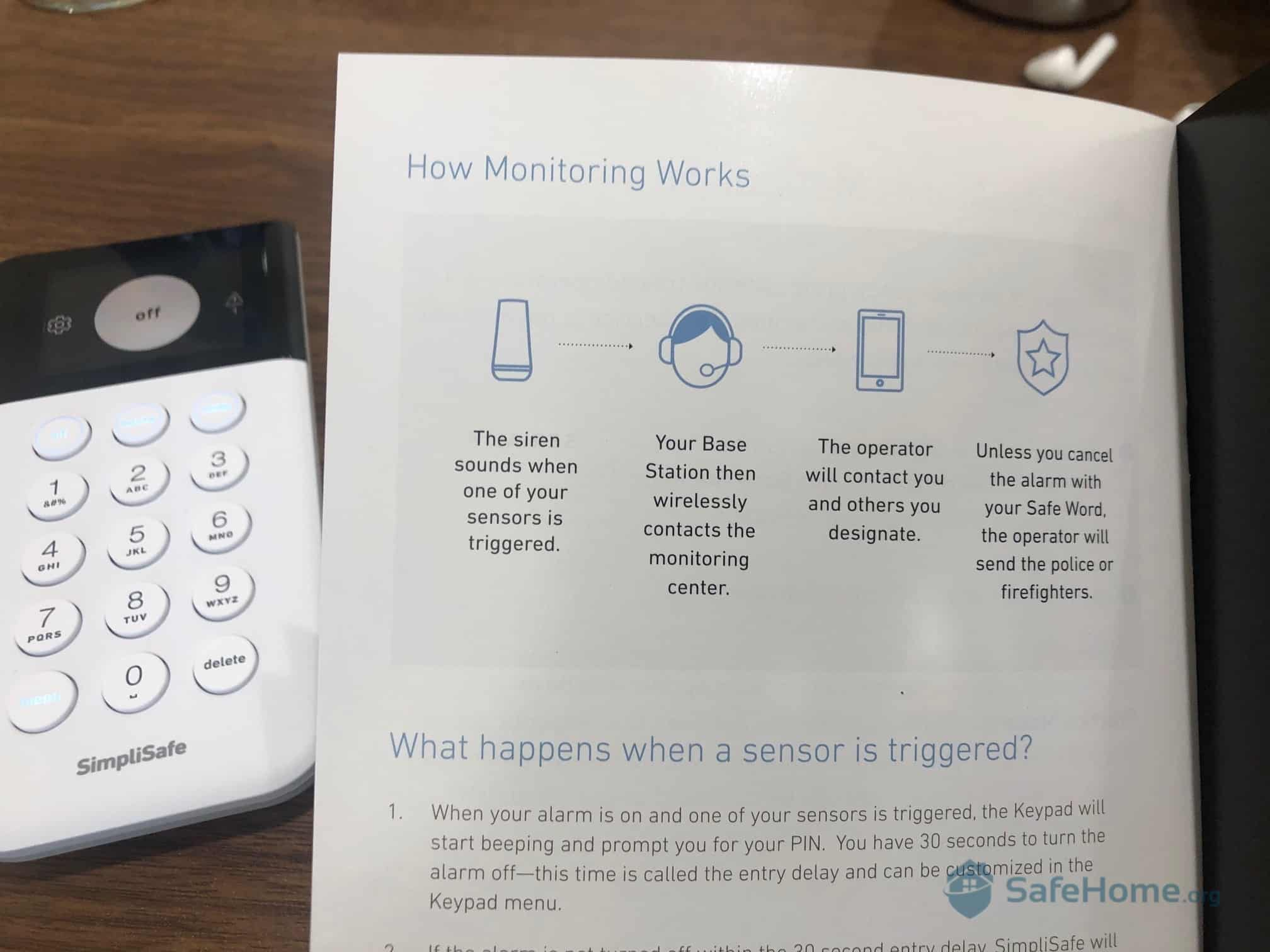 SimpliSafe Instructions - Monitoring