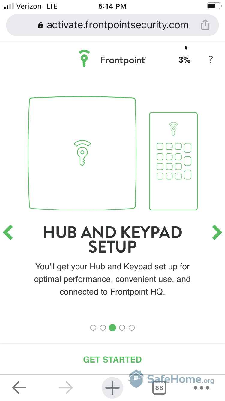 Frontpoint Hub and Keypad Setup
