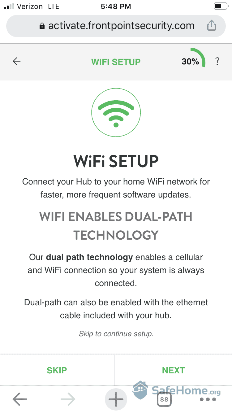 Frontpoint WiFi Setup