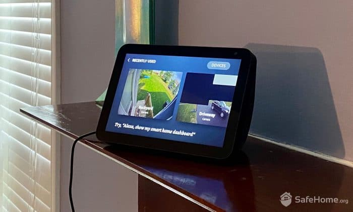 Ring dashboard on the Alexa Show