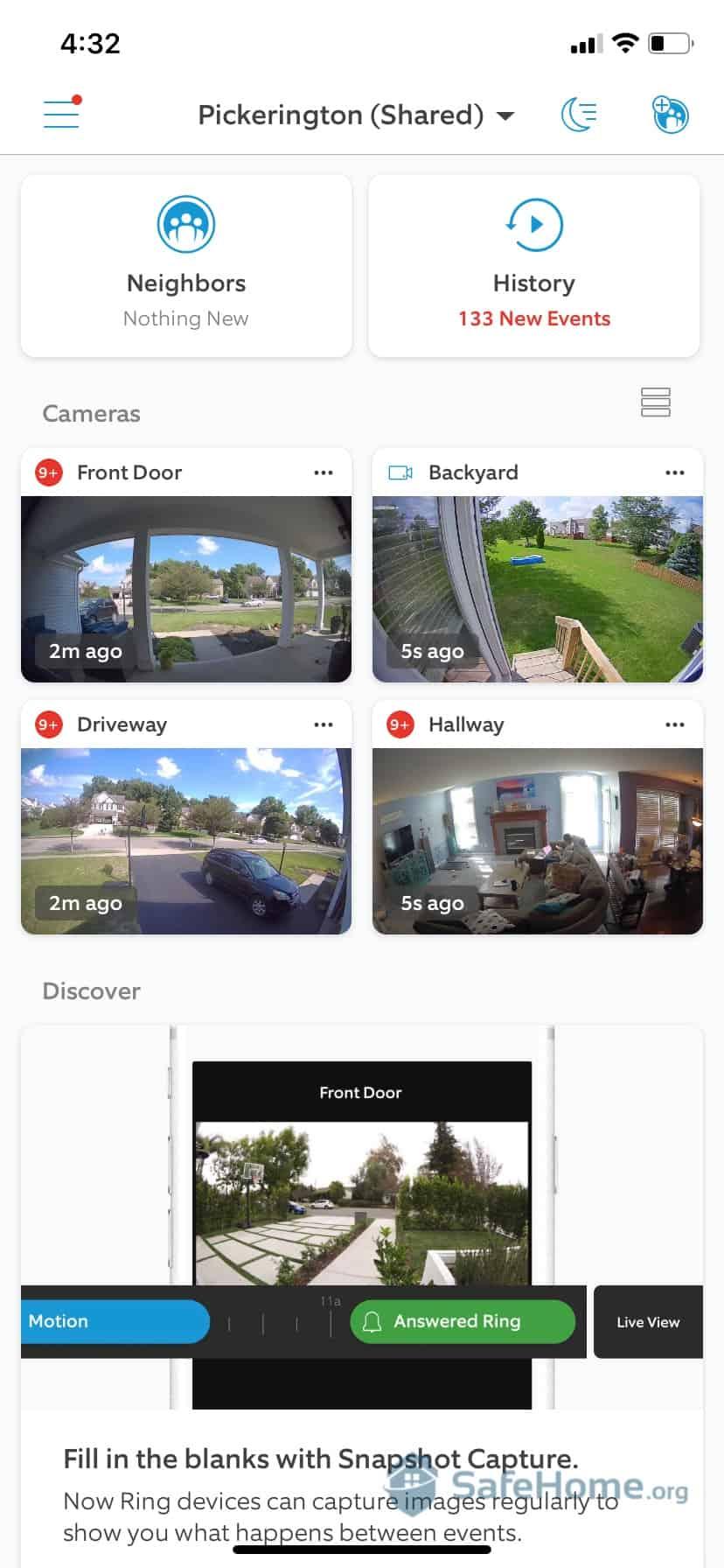 Ring App Homescreen