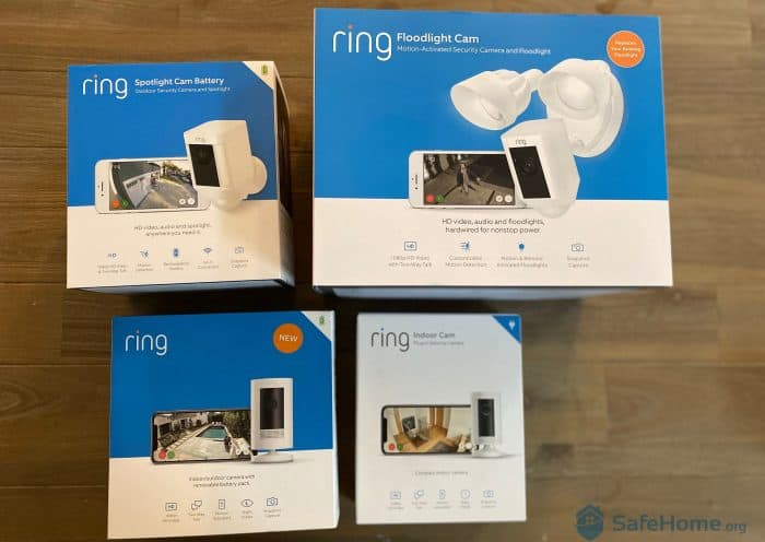 Boxed Up Ring Security Cameras