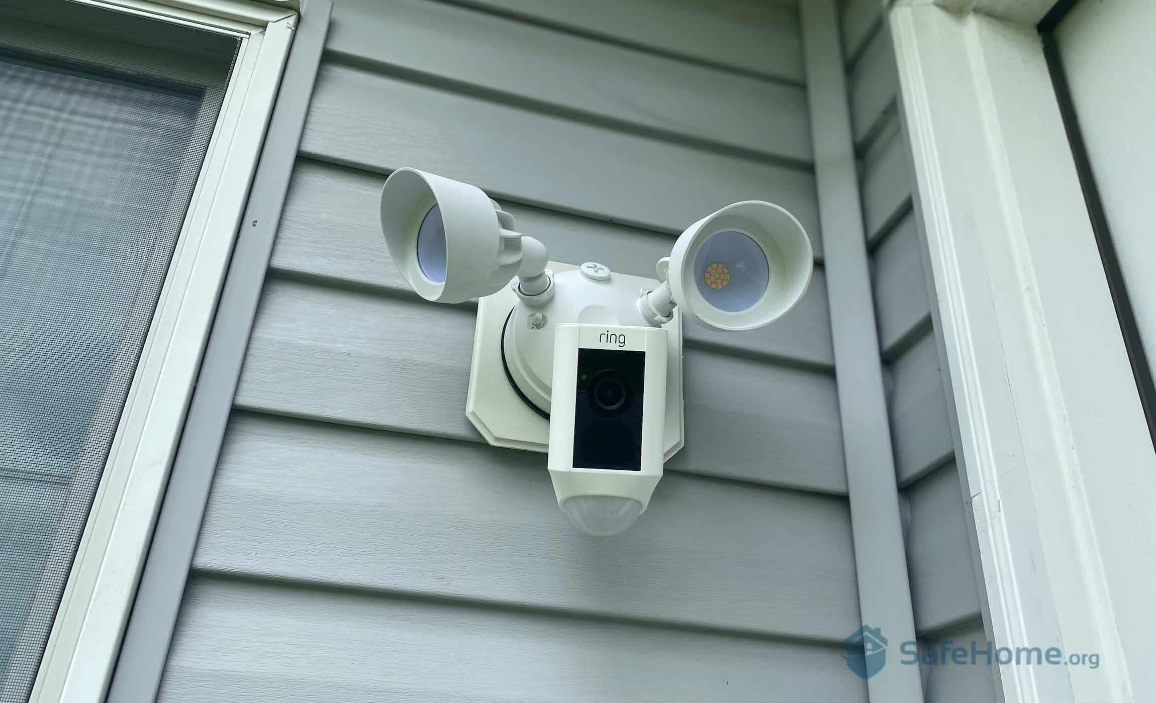 Ring Floodlight Cam Mounted Outside