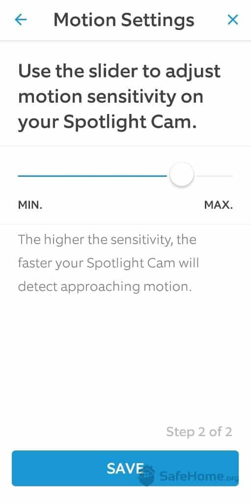 Ring Motion Sensitivity Slider