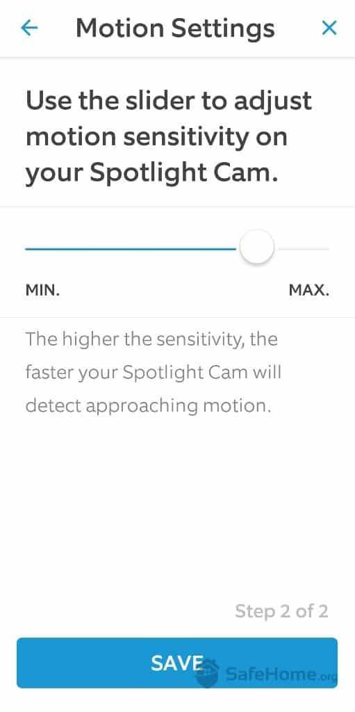 Ring Motion Sensitivity Slider