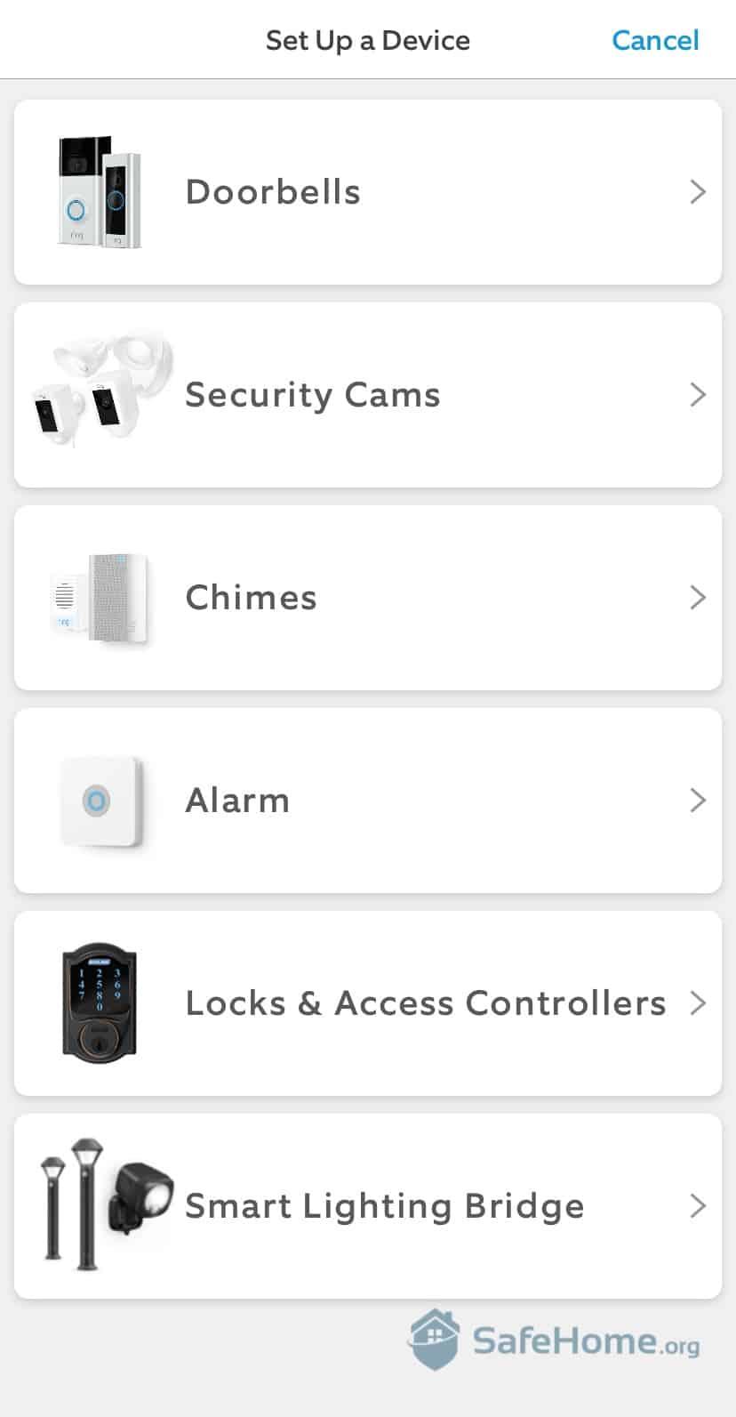 Ring Setup in App