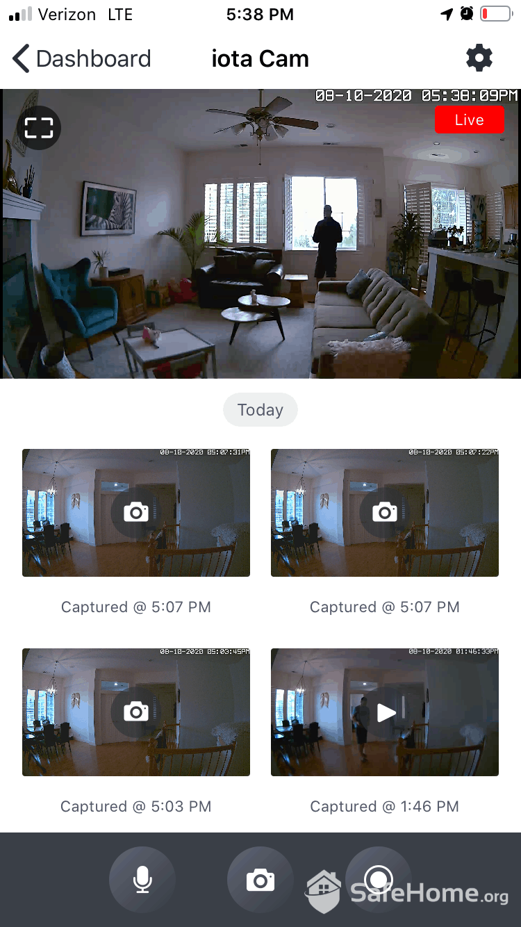 abode App - Video Recordings