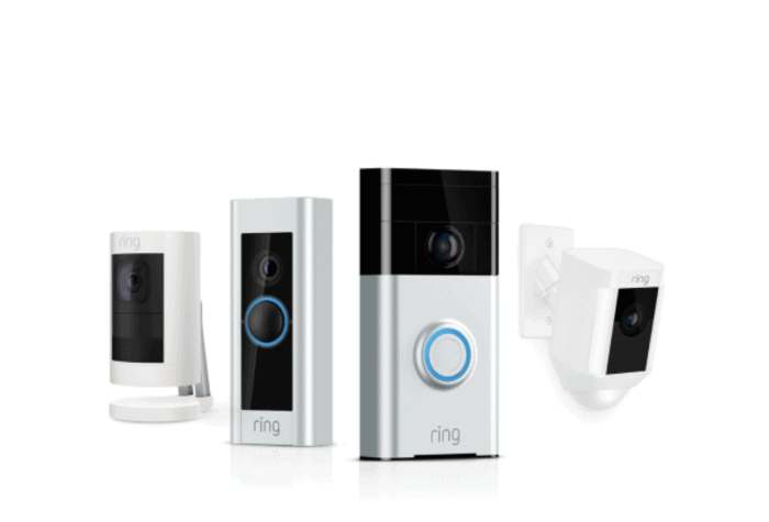 Lineup of Ring security products