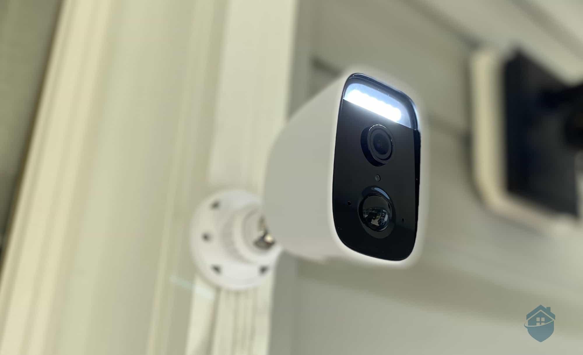 D-Link Camera Installed on Door Frame