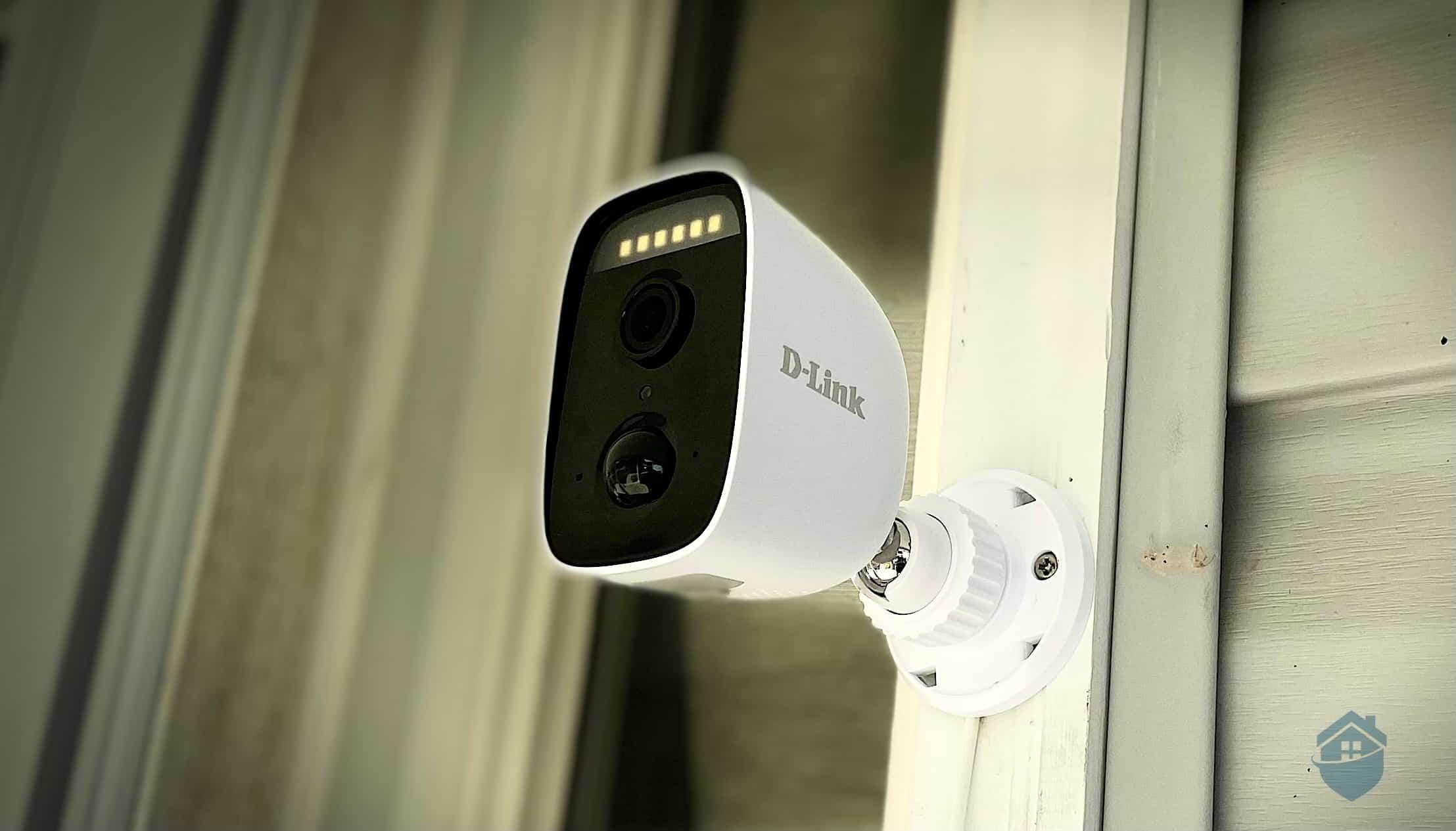 D-Link Camera on Door Frame